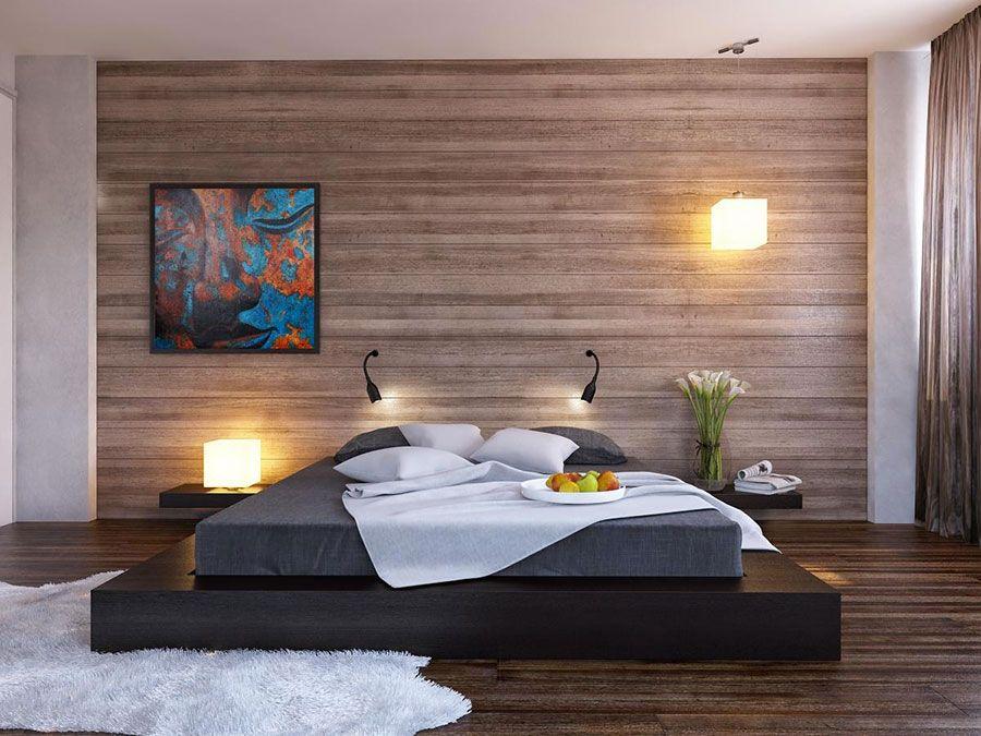 chambre à coucher style minimaliste