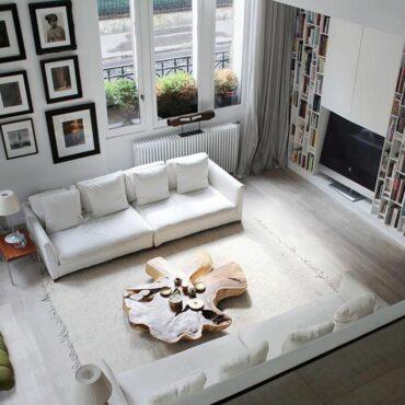 sala de estar en blanco total